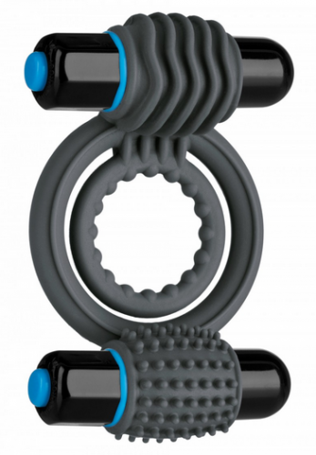 Double C-Vibrating Ring OptiMale Gray