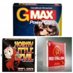 Erection Aids Pack3 - Red Stallion + Horny Devil + GMax