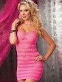 H31024 Fishnet Chemise Dress