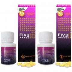 FIVE Instant Erection Aids - 20 tabs